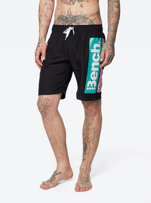 Printed Swim Shorts with Drawstring Waist