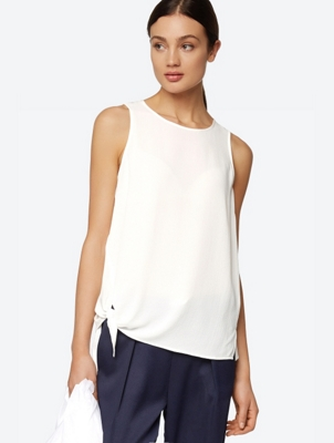 Light Vest Top with Side Tie Detail