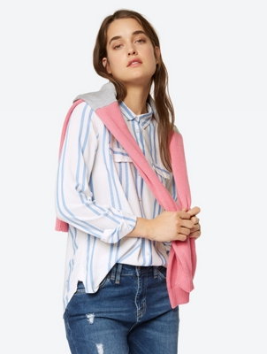 Blouse with Vertical Stripes