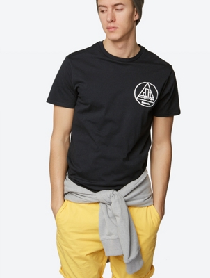 Plain T-Shirt Caducity with Back Graphic Print
