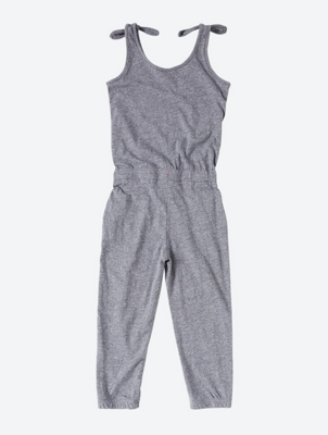 Fine Patterned Jumpsuit in Capri Length