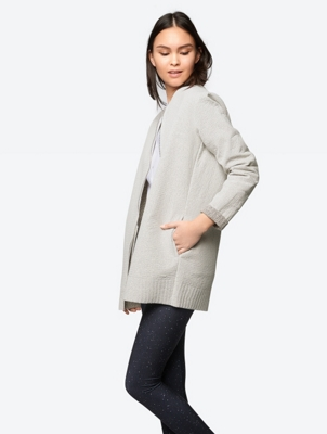 Collarless Lightweight Cardigan