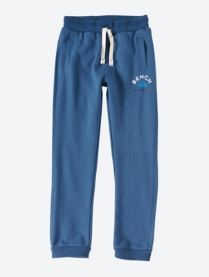 Plain Sweatpants with Drawsting Waist and Bench Logo
