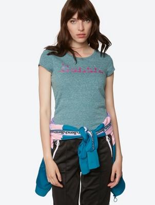 T-Shirt mit elastischen Seitennähten