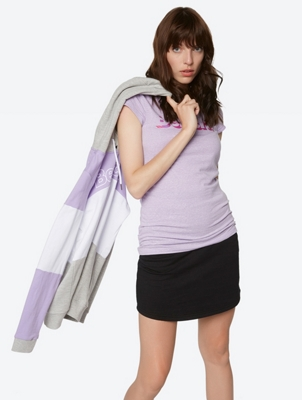 T-Shirt with Elasticated Side Seams