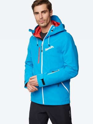 Water Repellent Jacket with Colour-Contrasting Lining in the Hood