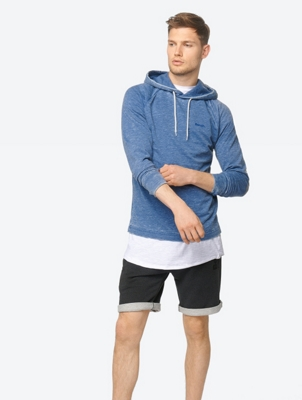 Marl Hoodie Cloudsnine with Drawstring Hood