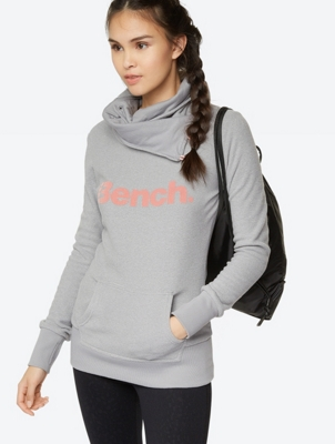 Soft Fleece Hoodie with Contrast Logo