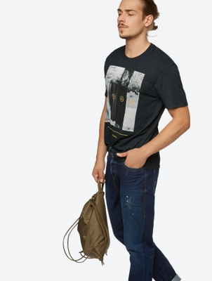 Urban T-Shirt Coldness in Mottled Yarn Look