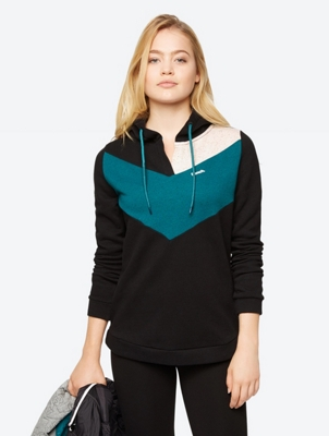 Hoodie in Multi-Coloured Pattern