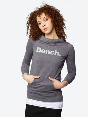 Plain Hoodie with Shiny Bench Logo