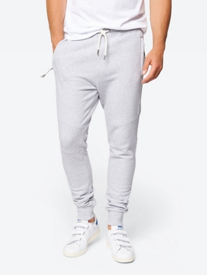 Fine Mottled Sweatpants with Drawstring Waistband