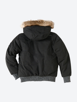 Fur Trimmed Hooded Bomber Jacket with Insulated Lining