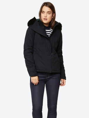 Warm Jacket with Colourful Lining