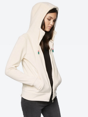 Jacket with Hood and Plush Feel