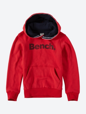 Hoodie with Rubberised Bench Logo