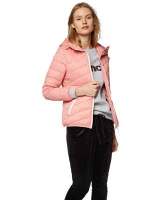 Water Repellent Jacket with Hood and Bench Print