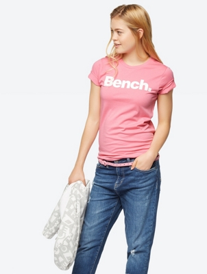 T-Shirt with Sparkling Logo Print