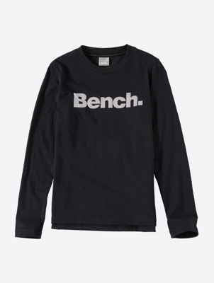 Long-Sleeve Top with Rubberised Bench Print on the Front