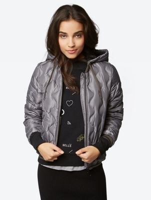 Down Jacket with Removable Hood