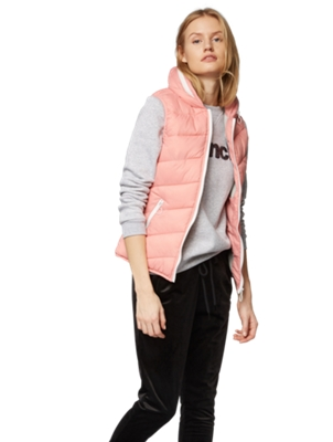Quilted Gilet with Hood in Collar