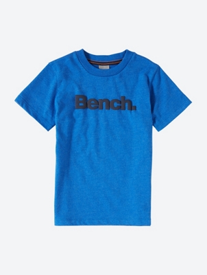 T-Shirt with Rubberised Bench Lettering on the Front