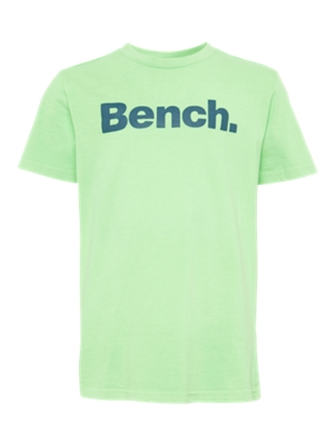 T-Shirt with Nubbed Bench Lettering on the Front