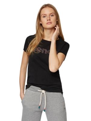 T-Shirt mit bunter Bench-Stickerei