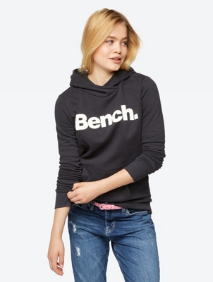 Plain Hoodie with Sparkling Bench Print