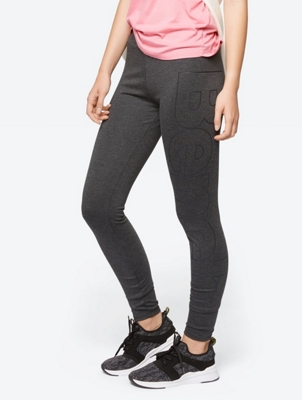 Leggings with Large Logo Print