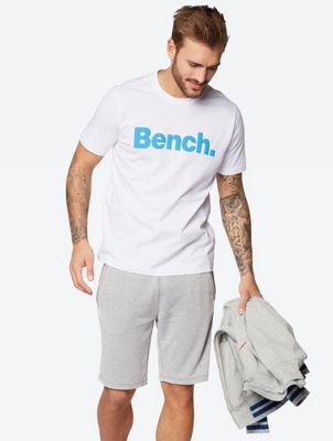 Plain T-Shirt with Contrasting Logo Print