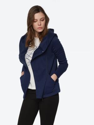 Hoodie-Jacke mit asymmetrischem Reißverschluss