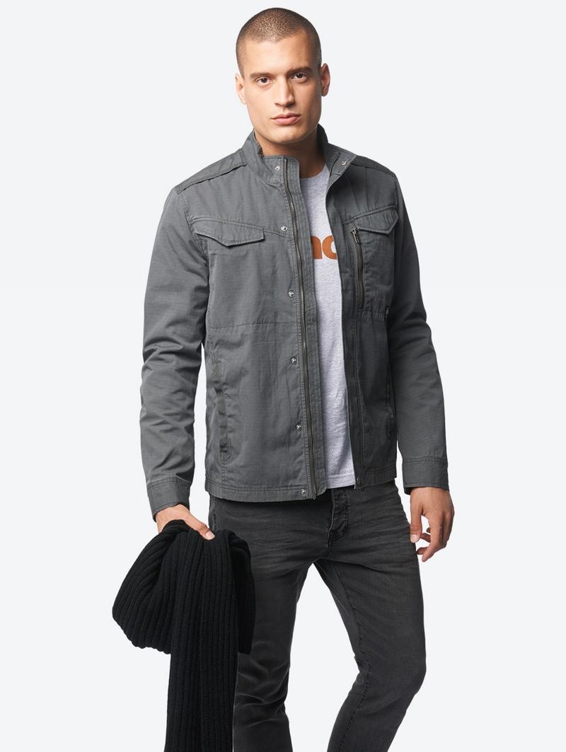 Bench Grau Mens Jacket Größe L
