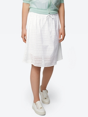 A-Line Skirt with Eyelet Embroidery