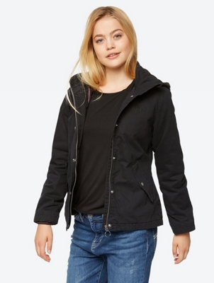 COTTON JACKET WITH QUILTED HOOD