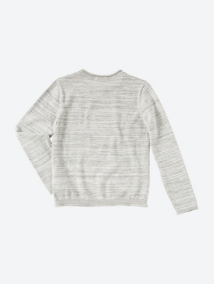 Melange Jumper with Rolled Edges
