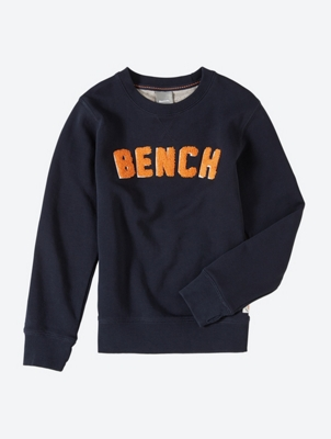 Sweatshirt with Terry Bench Motif on the Front