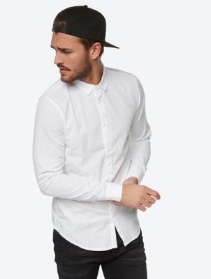 Crinkle Fabric Plain Shirt