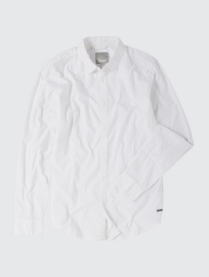 Crinkle Fabric Plain Shirt