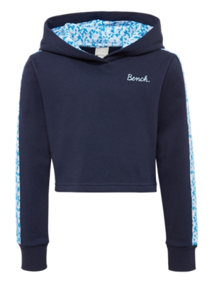 Hoodie with Multi-Coloured Piping on the Sleeves