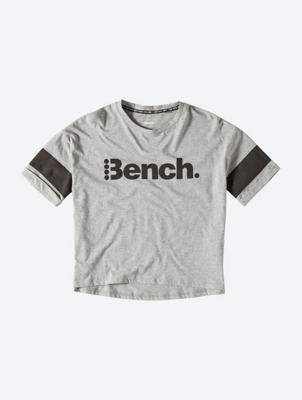 Relaxed Fit T-Shirt with Bench Print