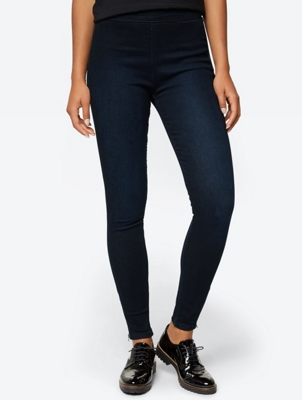 High-Waisted Jeans with Side Zip