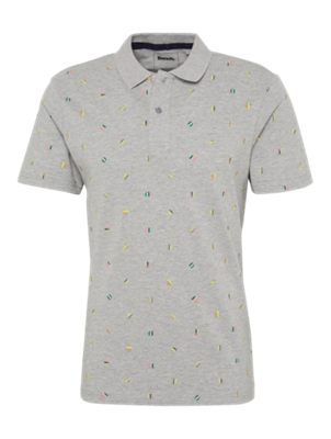 Polo Shirt with Allover Pattern