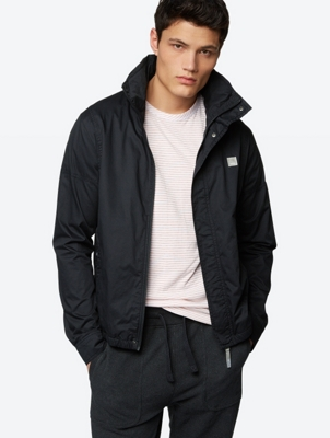 Plain Jacket Alternative III D with Branded Collar and Foldaway Hood