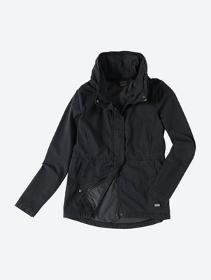 Canvas Jacket with Fold Away Hood