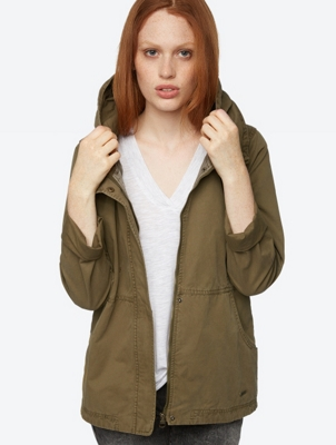 Jacket with Wide Collar