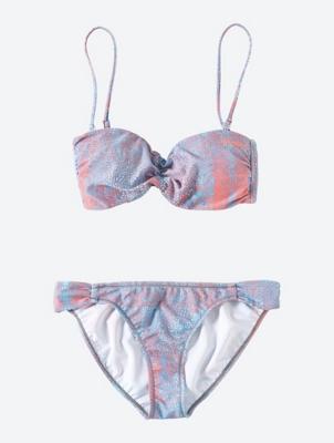 Bandeau-Bikini Detach Crisscross mit abnehmbaren Trägern