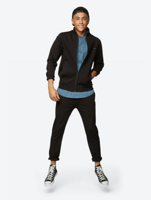 Sweat Jacket Discond with Slit Pockets