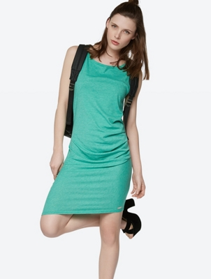 Draped Dress Distinction with Asymmetrical Hem