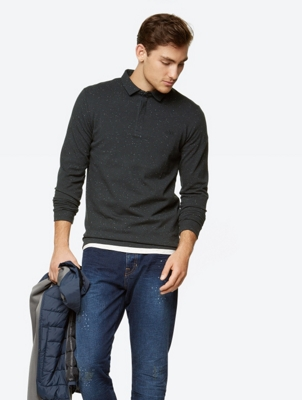 Long-Sleeve Polo Shirt Doubter with Bouclé